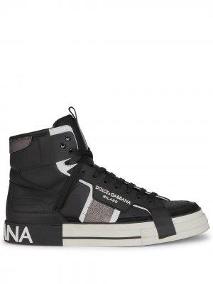 Высокие кроссовки Custom 2.Zero Dolce & Gabbana. Цвет: черный