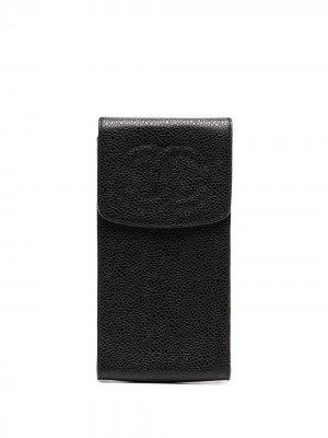 Футляр для солнцезащитных очков 1995-го года Chanel Pre-Owned. Цвет: черный