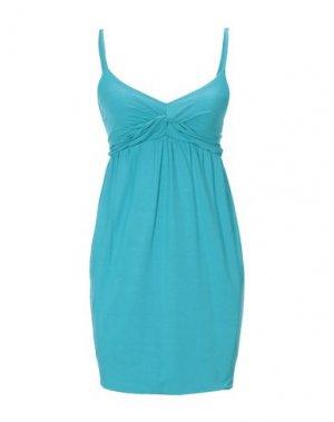 Короткое платье FRANCESCA FERRANTE. Цвет: лазурный