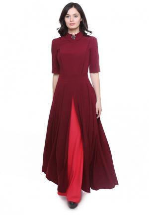 Платье Grey Cat YARMINA. Цвет: бордовый