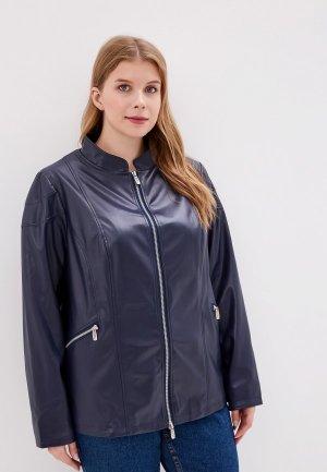 Куртка кожаная JP. Цвет: синий