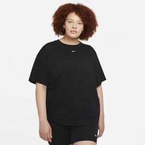 Женская футболка оверсайз с коротким рукавом Sportswear Essential (большие размеры) - Черный Nike