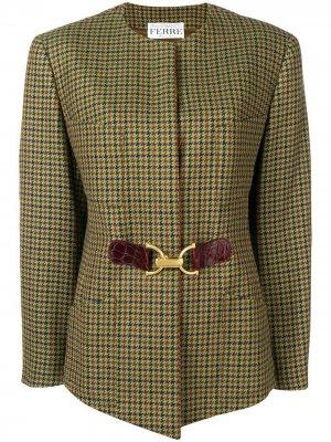 Пиджак в стиле 1980-х Pied de Poule Gianfranco Ferré Pre-Owned. Цвет: зеленый