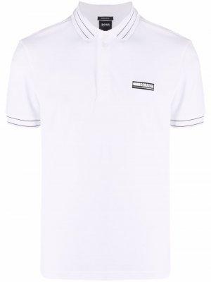 Рубашка поло с логотипом Boss Hugo. Цвет: белый