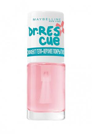 Топовое покрытие Maybelline New York Уход за ногтями DR. RESCUE Эффект геля, глянцевое, 7 мл. Цвет: розовый