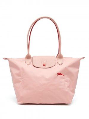 Большая сумка-тоут Le Pliage Longchamp. Цвет: розовый
