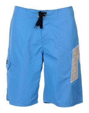 Пляжные брюки и шорты ANALOG. Цвет: лазурный