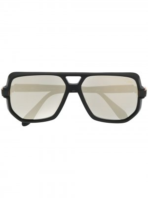 Солнцезащитные очки-авиаторы с затемненными линзами Cazal. Цвет: черный