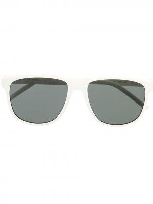 Солнцезащитные очки SL334 в квадратной оправе Saint Laurent Eyewear. Цвет: белый
