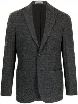 Однобортный пиджак Corneliani. Цвет: серый