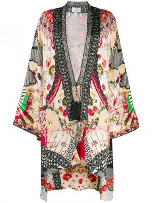 Накидка-кимоно с принтом Camilla