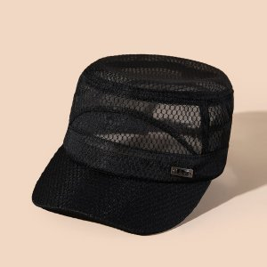 Мужская минималистичная кепка SHEIN. Цвет: чёрный