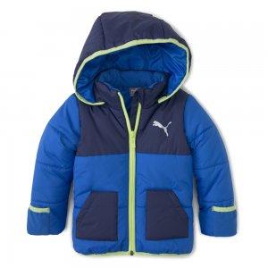 Детская куртка Minicats Padded Jacket PUMA. Цвет: синий