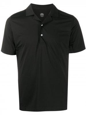 Рубашка поло узкого кроя Hydrogen. Цвет: черный