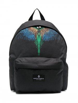 Рюкзак с логотипом Wings Marcelo Burlon County Of Milan Kids. Цвет: черный