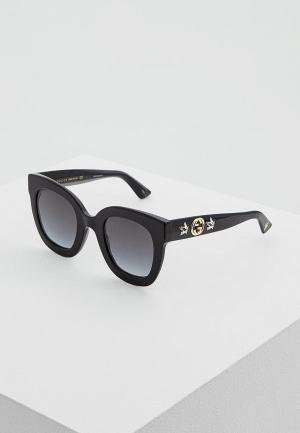 Очки солнцезащитные Gucci GG0208S001. Цвет: черный