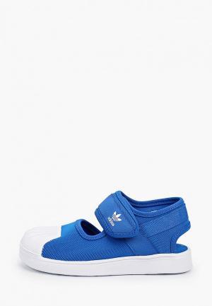 Туфли adidas Originals. Цвет: синий