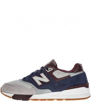 Трехцветные кроссовки с вкладной стелькой 597 New Balance. Цвет: мультиколор