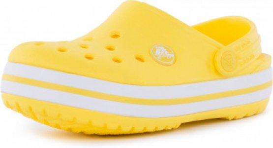 Шлепанцы детские Crocband Clog K, размер 27 Crocs. Цвет: желтый