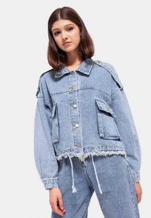 Куртка джинсовая Dorogobogato. Цвет: голубой