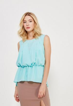 Блуза Alex Lu VEIRO. Цвет: бирюзовый