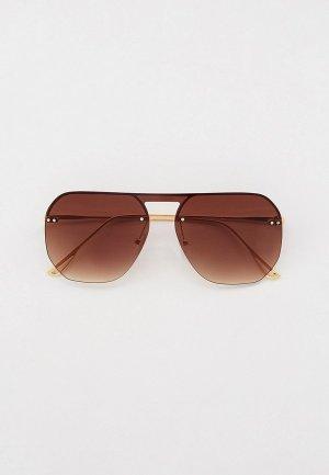 Очки солнцезащитные Keddo. Цвет: золотой