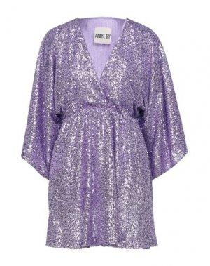 Короткое платье ANIYE BY. Цвет: сиреневый