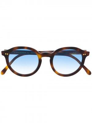 Солнцезащитные очки в оправе черепаховой расцветки Epos. Цвет: коричневый