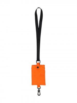 Обложка для паспорта на шнурке с карабином Heron Preston. Цвет: оранжевый