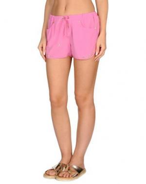 Пляжные брюки и шорты VDP BEACH. Цвет: розовый