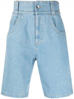 Джинсовые шорты с вышитым логотипом Opening Ceremony. Цвет: синий
