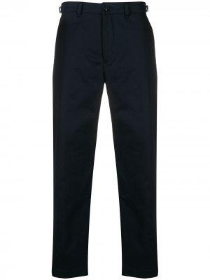 Узкие брюки чинос с логотипом Diesel. Цвет: синий