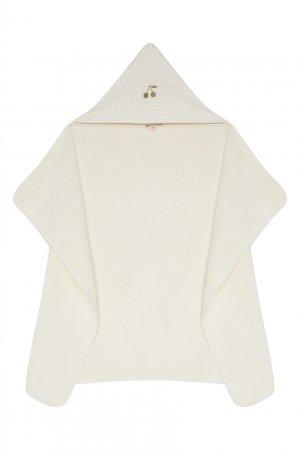 Белое полотенце Bonpoint. Цвет: белый