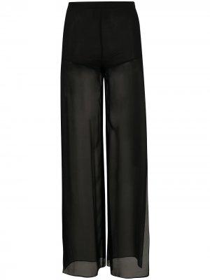 Прозрачные брюки широкого кроя John Richmond. Цвет: черный