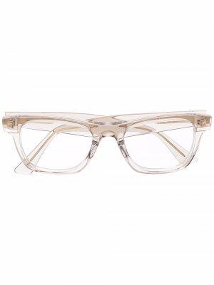Очки в прямоугольной оправе Bottega Veneta Eyewear. Цвет: нейтральные цвета