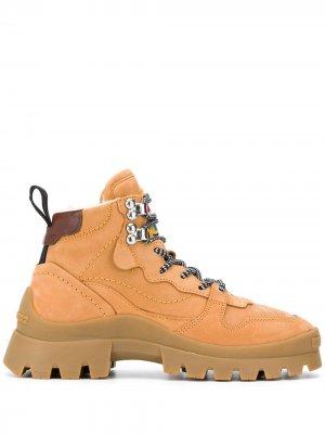 Ботинки хайкеры на шнуровке Dsquared2. Цвет: коричневый