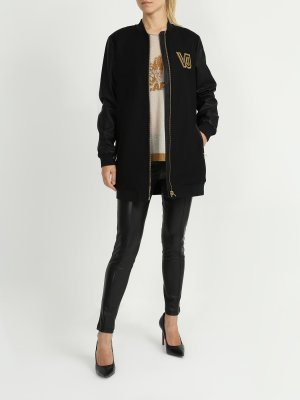 Бомбер Versace Jeans. Цвет: chernyy