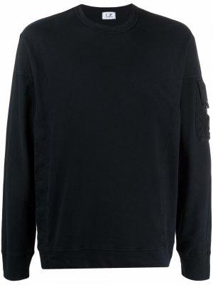 Long-sleeved fleece sweatshirt C.P. Company. Цвет: черный
