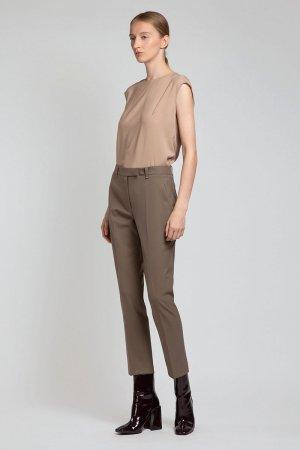 Укороченные брюки зауженного кроя VASSA&Co. Цвет: бежевый