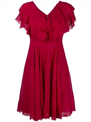 Платье мини с оборками LIU JO. Цвет: красный