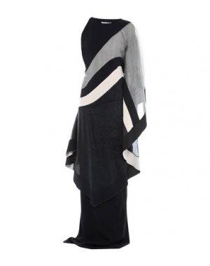 Длинное платье ANTONIO BERARDI. Цвет: черный