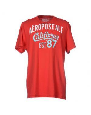 Футболка AÉROPOSTALE. Цвет: красный