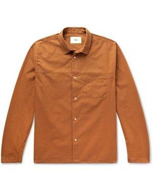 Pубашка FOLK. Цвет: коричневый
