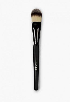 Кисть для лица Ga-De тонального крема Foundation Brush. Цвет: черный