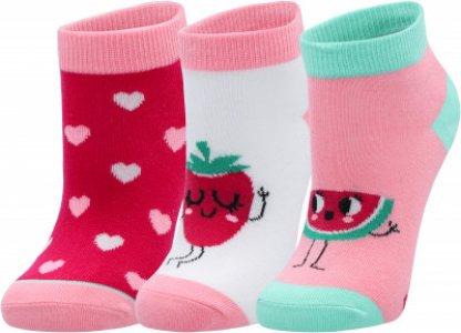 Носки для девочек , 3 пары, размер 24-35 Skechers. Цвет: разноцветный