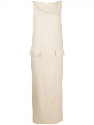 Платье макси с вырезом-лодочкой Gianfranco Ferré Pre-Owned. Цвет: нейтральные цвета