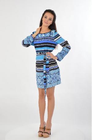 Платье Hale Bob. Цвет: синий