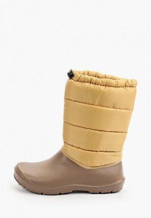 Резиновые сапоги Ayo. Цвет: коричневый