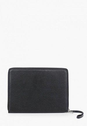 Обложка для документов Cashalots Zip folder, Флотер чёрный, формат А4. Цвет: черный
