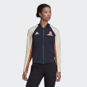 Куртка-бомбер VRCT Athletics adidas. Цвет: none
